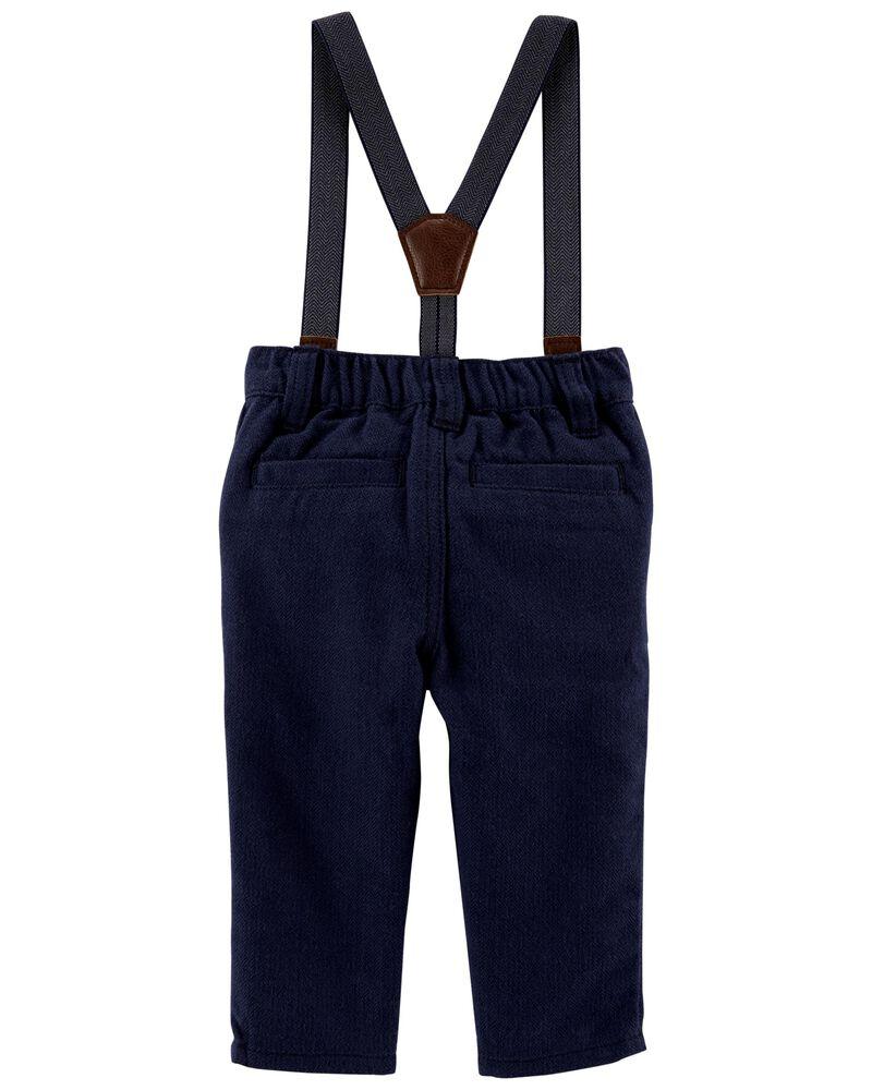 Herringbone Suspender Pants, , hi-res