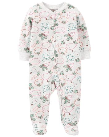 Veggies 2-Way Zip Cotton Sleep & Pl...