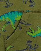 Kangourou à doublure molletonnée avec glissière et dinosaure, , hi-res
