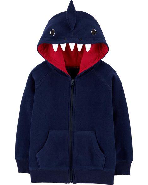 Shark Zip-Up Fleece Hoodie