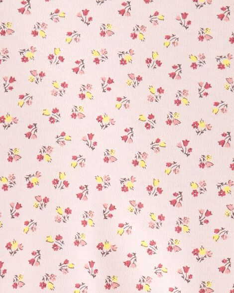 Floral Side-Snap Cotton Sleep & Play