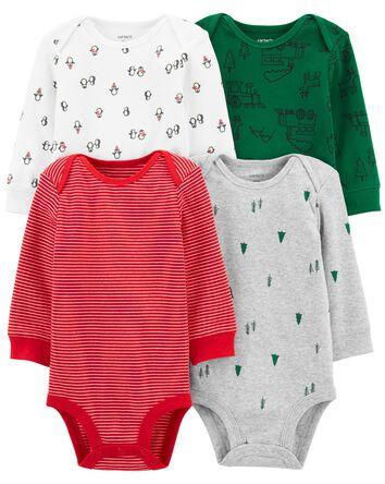 4-Pack Holiday Original Bodysuits