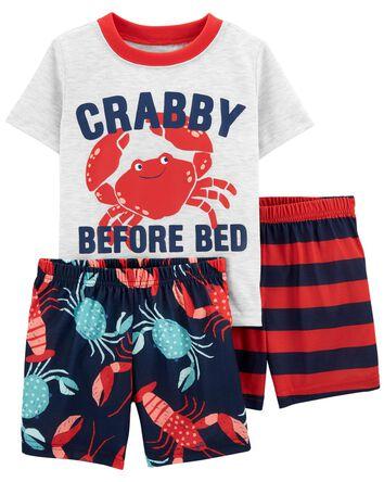 Pyjama 3 pièces de coupe ample à cr...