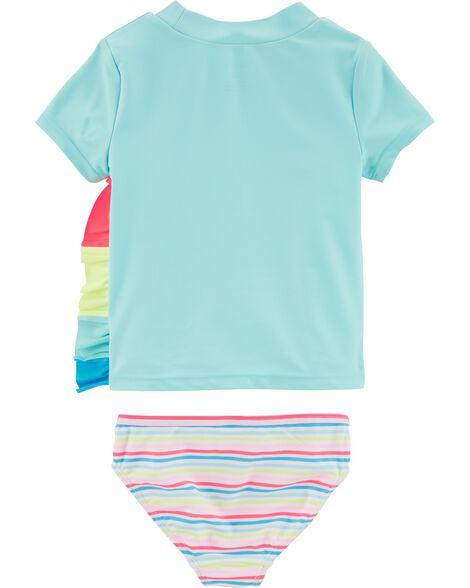 2-Piece Unicorn UV Swim Shirt Set