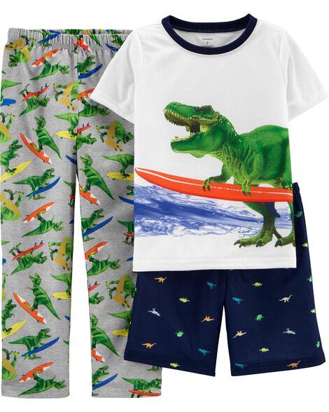 3-Piece Dinosaur Poly PJs