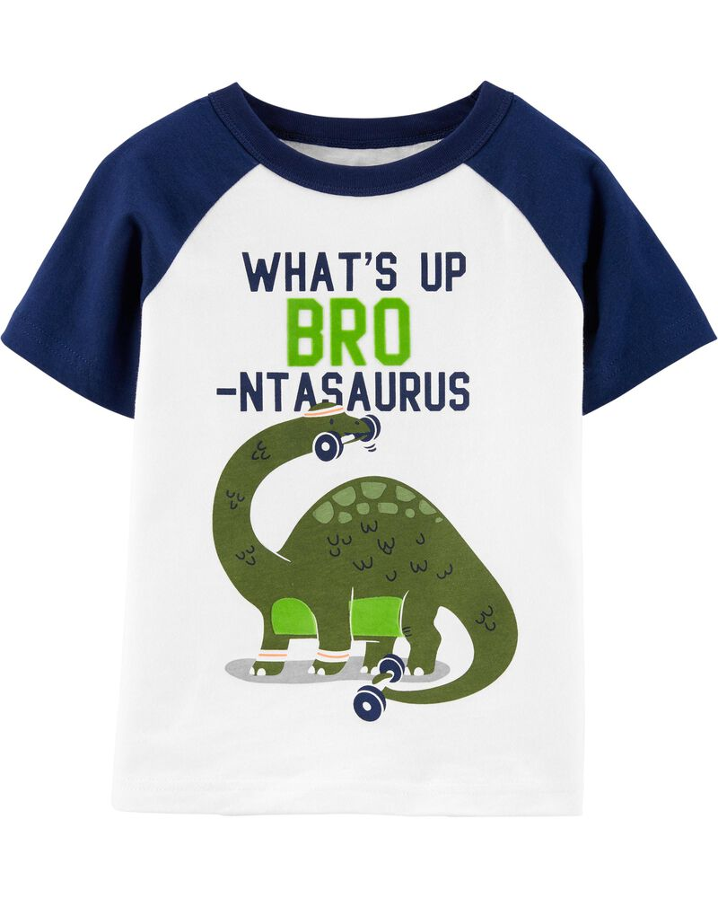 T-shirt en jersey à manches raglan Bro Dinosaur, , hi-res
