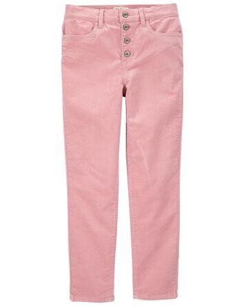 Pantalon en velours côtelé extensib...