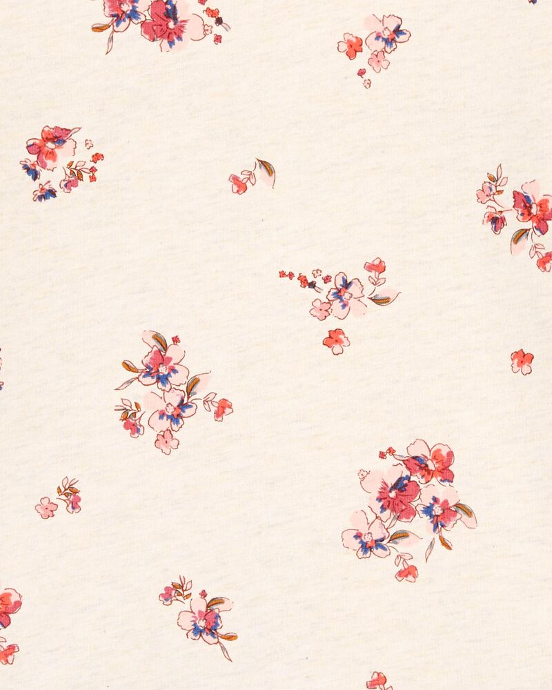Floral Ruffle-Hem Pullover, , hi-res