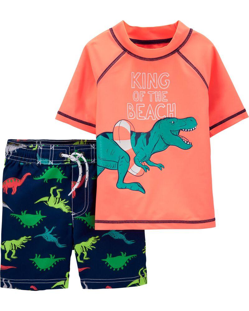 Dinosaur Rashguard Set, , hi-res
