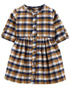 Plaid Flannel Dress, , hi-res
