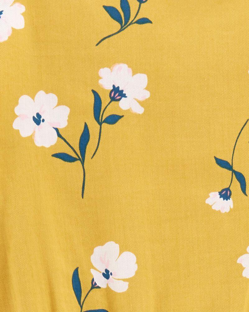 Robe en satinette fleurie, , hi-res