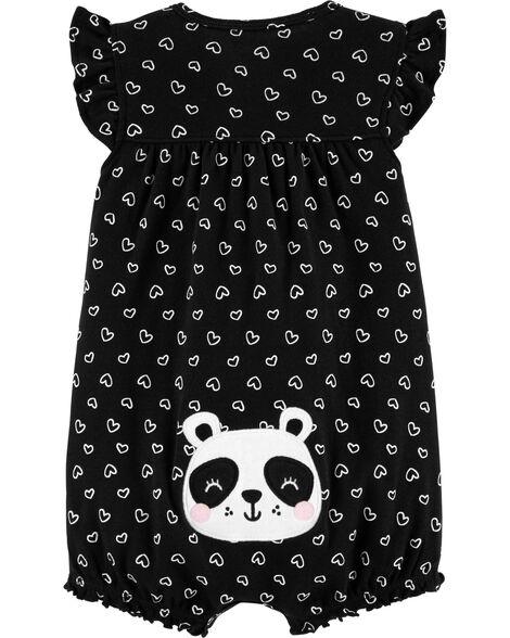 Panda Snap-Up Romper