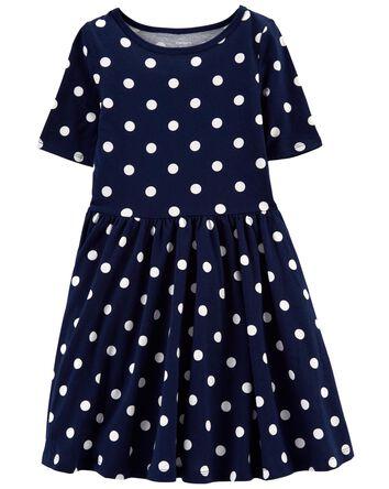 Polka Dot Jersey Dress