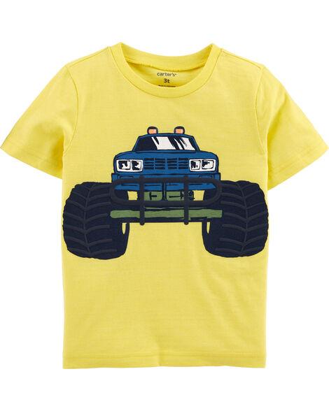 T-shirt en jersey chiné à camion monstre