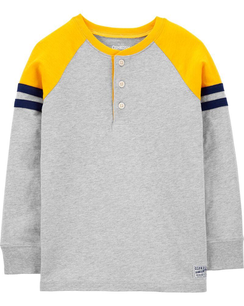 Haut henley en jersey à couleurs contrastées, , hi-res