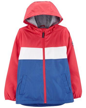 Colourblock Fleece-Lined Windbreake...