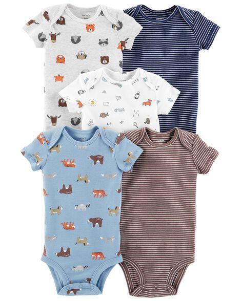 5-Pack Animal Original Bodysuits
