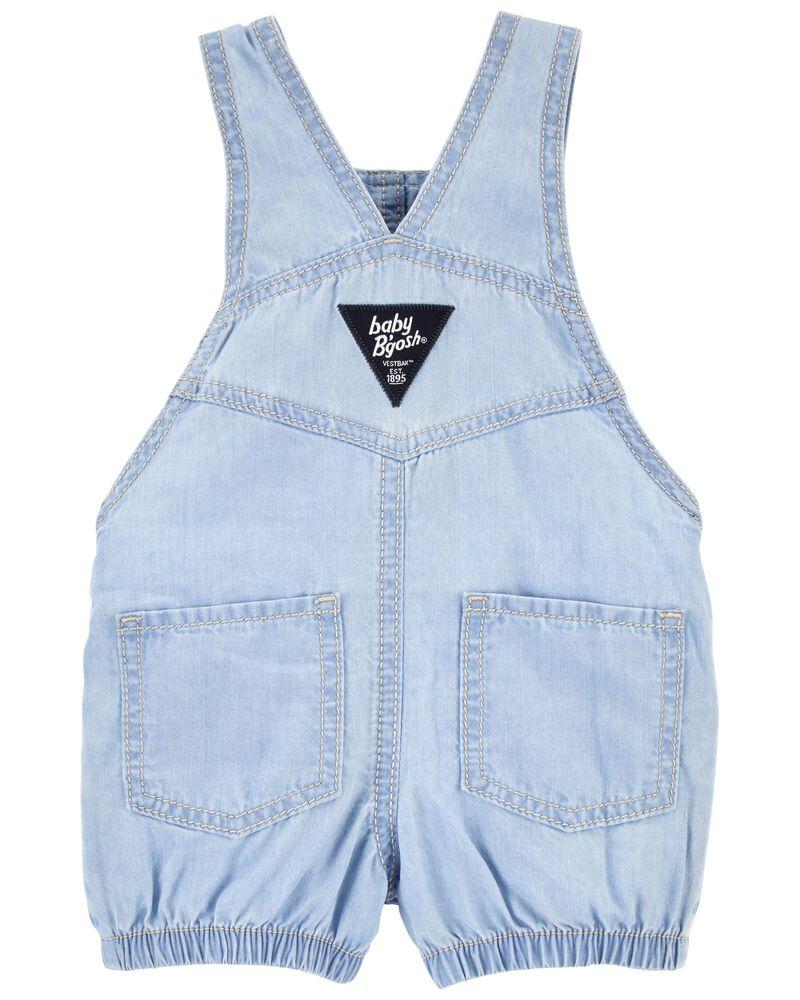 Soft Cinched Heart Pocket Shortalls, , hi-res