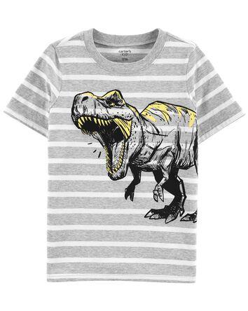 Striped Dinosaur Jersey Tee