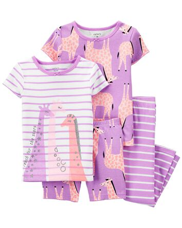 4-Piece Giraffe 100% Snug Fit Cotto...