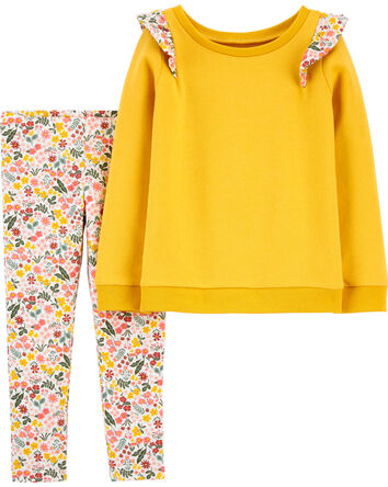 2-Piece Flutter French Terry Top &...