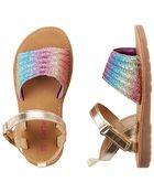 Sandales arc-en-ciel, , hi-res