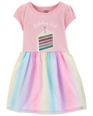 Birthday Jersey Tutu Dress