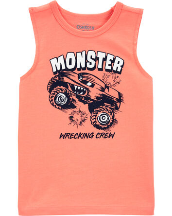 Monster Truck Muscle Tank