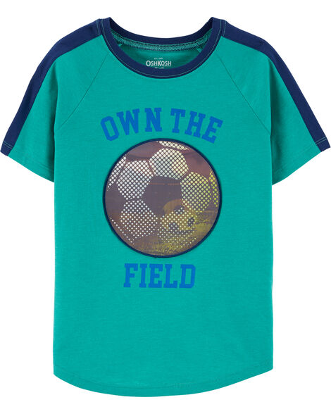 Soccer Action Graphic Tee