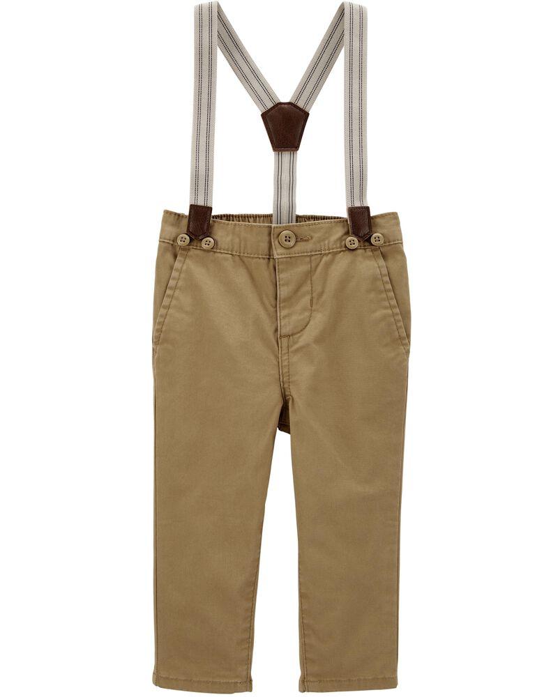 Stretch Suspender Pants, , hi-res