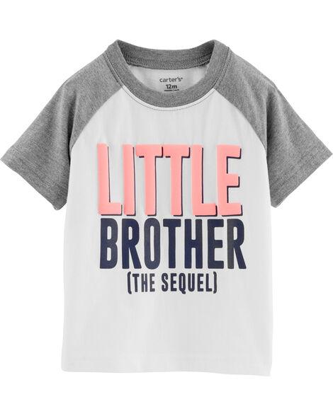 T-shirt raglan à slogan petit frère