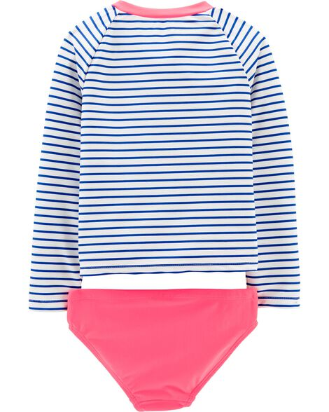 2-Piece Je T'aime UV Swim Shirt Set