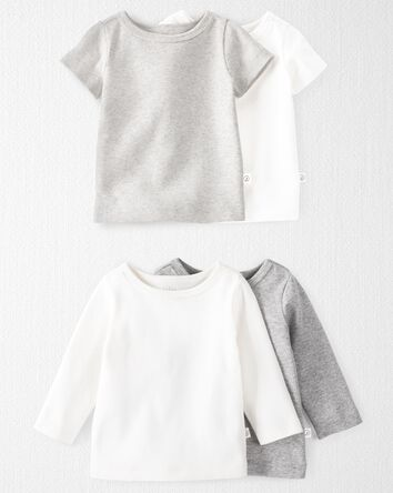 4-Pack Organic Cotton Rib Tops