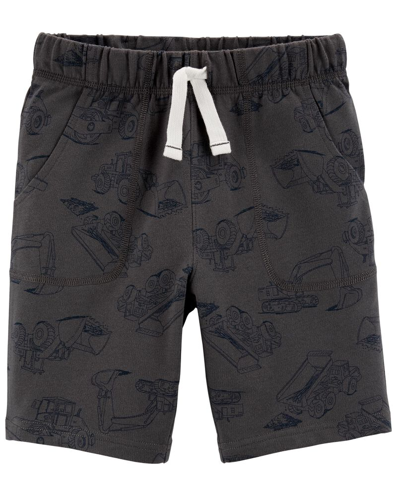 Car Pull-On French Terry Shorts, , hi-res