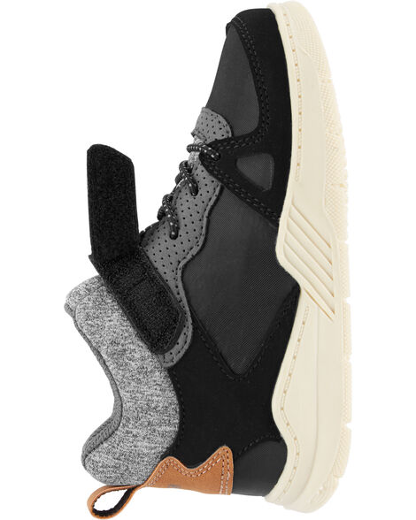 Charcoal High-Top Sneakers