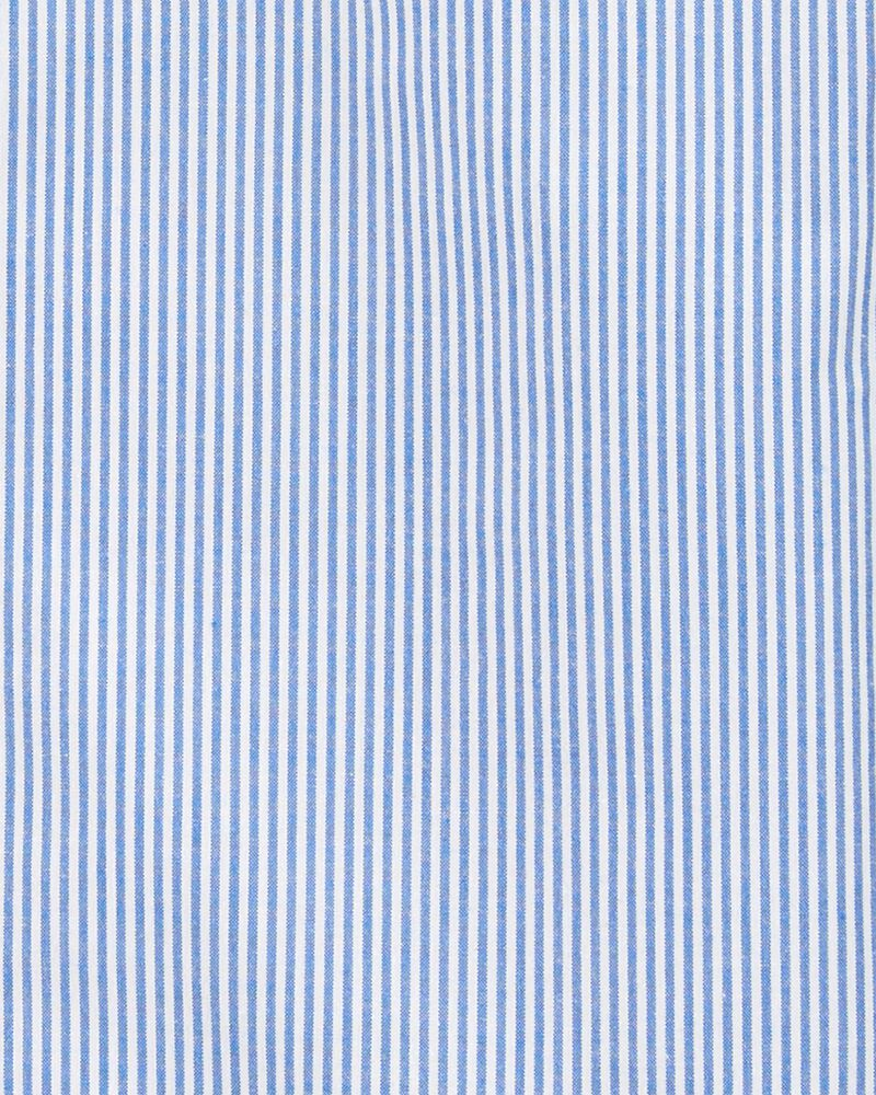 Striped Uniform Button-Front Shirt, , hi-res