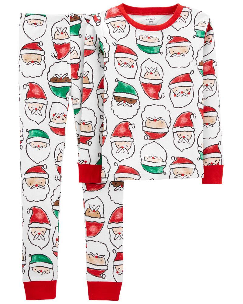 Pyjama 2 pièces en coton ajusté Père Noël, , hi-res