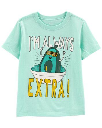 T-shirt en jersey Extra Avocado