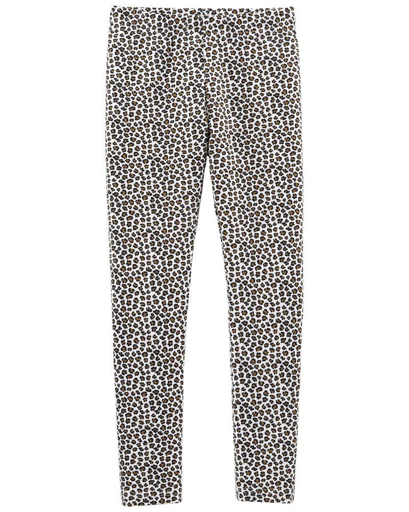 Legging à imprimé léopard, , hi-res