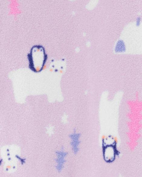 1-Piece Winter Wonderland Fleece PJs