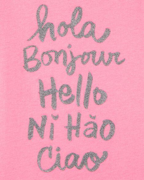 T-shirt à imprimé original Hello