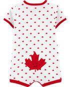 Canada Day Maple Leaf Romper, , hi-res