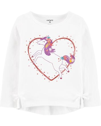 T-shirt en jersey à cœur et cheval
