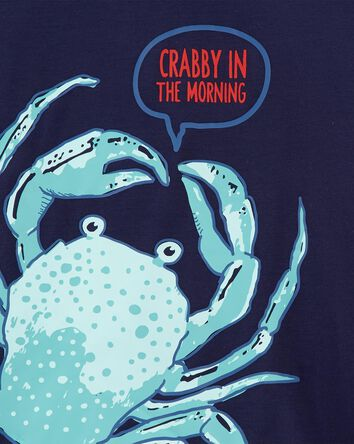 3-Piece Crab Loose Fit Poly PJs