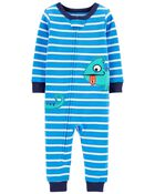 1-Piece 100% Chameleon Snug Fit Cotton Footless PJs, , hi-res