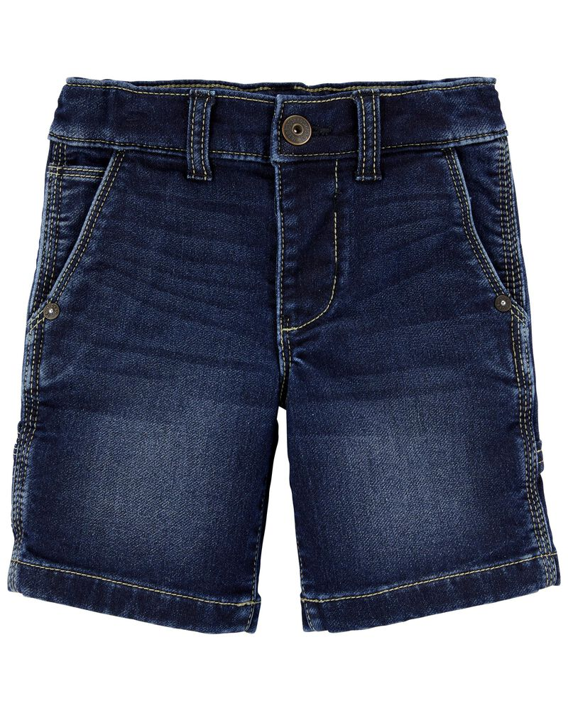 Stretch Denim Carpenter Shorts, , hi-res