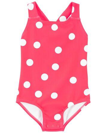 Polka Dot 1-Piece Swimsuit