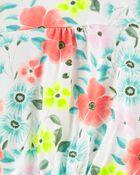 T-shirt en jersey à œillets et fleurs, , hi-res