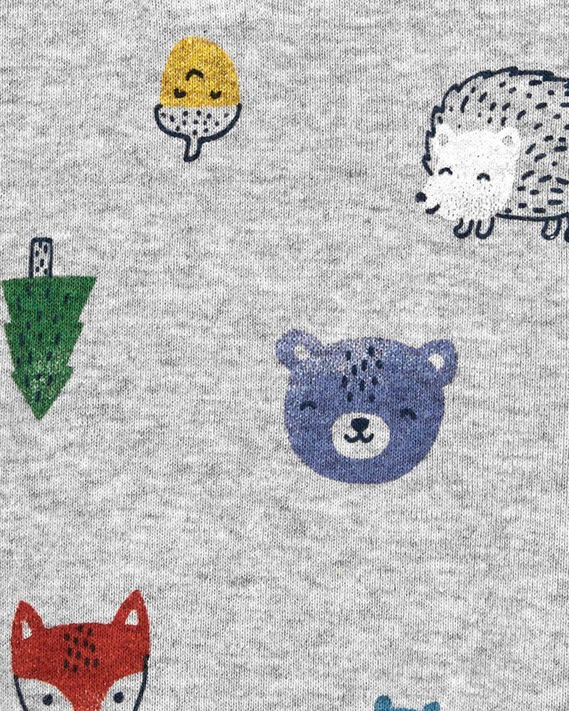 Cache-couche en coton avec animaux, , hi-res