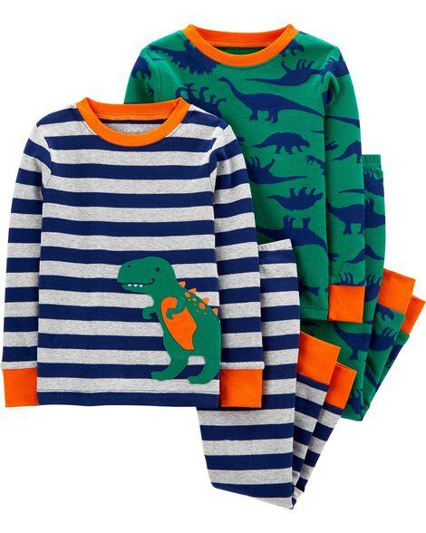 4-Piece 100% Snug Fit Cotton PJs